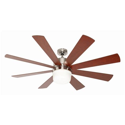 mercator octagon 142cm 8 blade brushed chrome ceiling fan