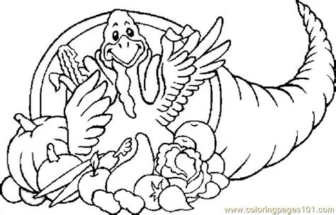 coloring pages cornucopia turkey holidays