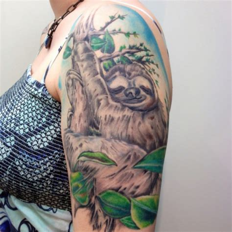 new tattoo pool 25 sloth tattoos that are perfect for people who lov