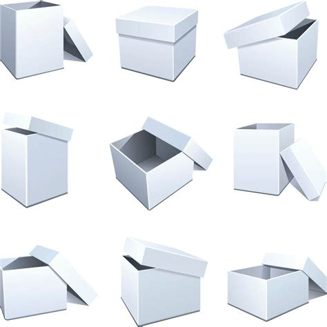 blank packaging templates vector free vector graphic