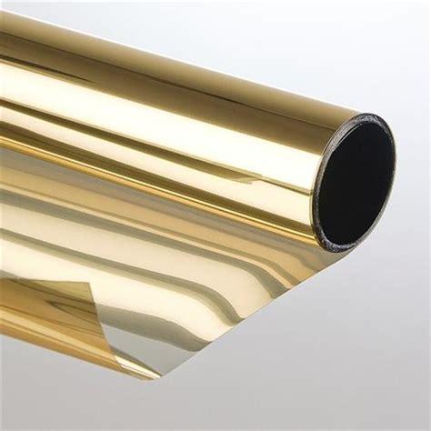 3m Folie Autoscheiben by Sonnenschutzfolie Mit Spiegeleffekt 75 X 300cm Gold Bronze