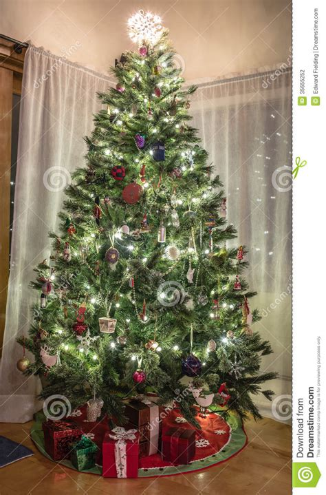 christmas tree in home stock photo image of celebration