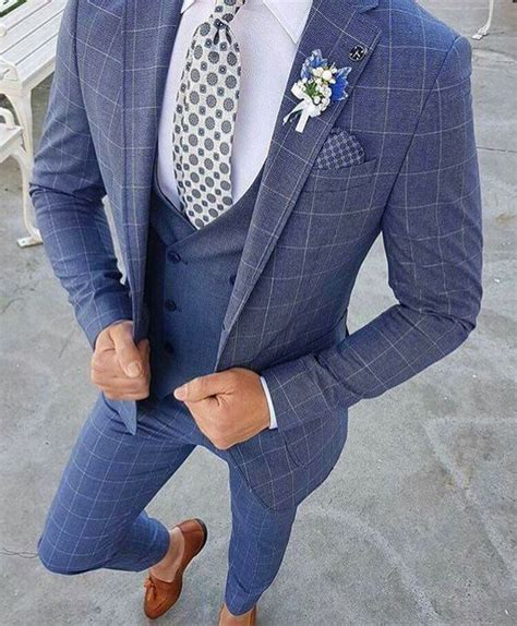 blue suit patterned shirt blue brown patterned suit with blue shirt and tie mens