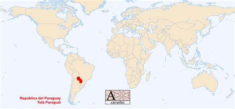 paraguay world map world atlas the sovereign states of the world paraguay