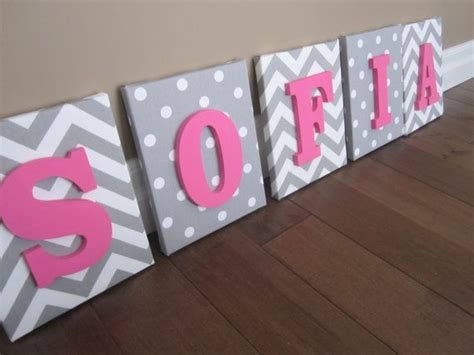 Decorated Letters For Nursery Wall Canvas Letters Nursery Decor Nursery Letters Wooden Letters Personalized Nursery