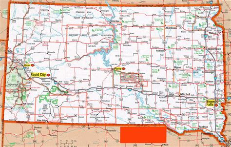 printable south dakota road map hognews com state pages south dakota