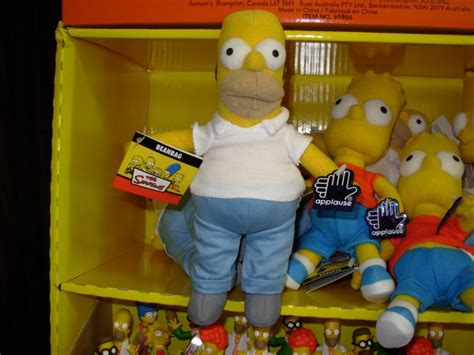 homer beanbag doll new russ berrie applause the simpsons tv character