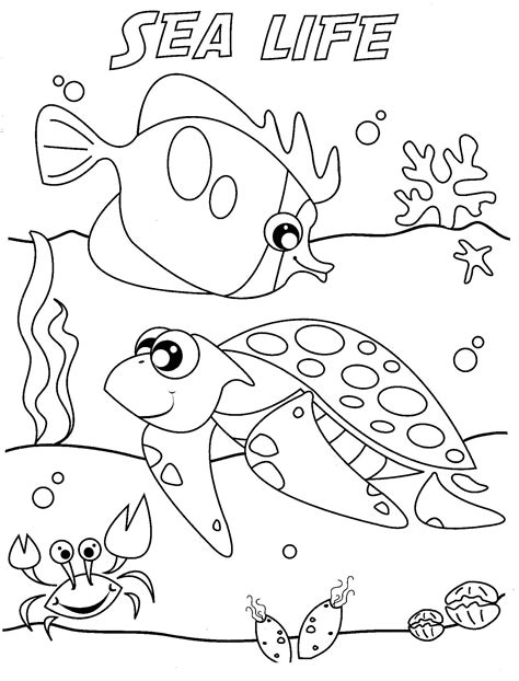 coloring pages of sea world under the sea coloring page 3227