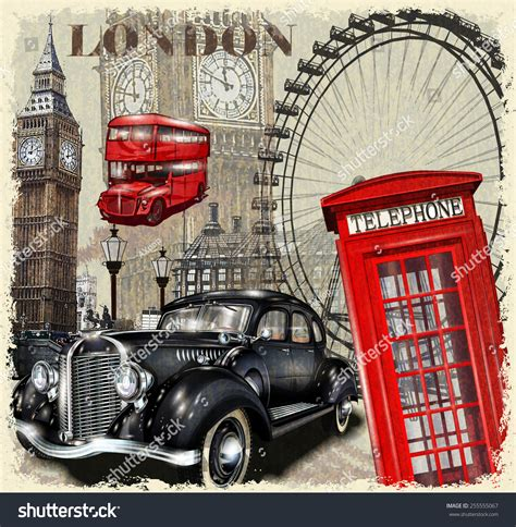 imagenes navideñas vintage london vintage poster stock vector 255555067 shutterstock