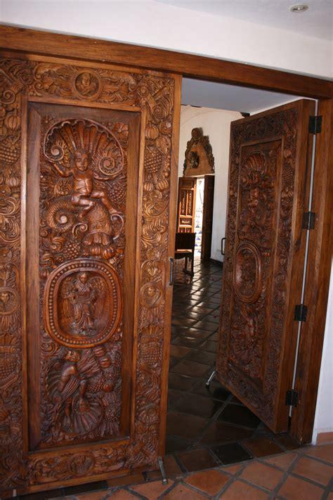 Carved Front Doors Ornamental Carved Wooden Front Door Haciendas Wooden Front Doors And