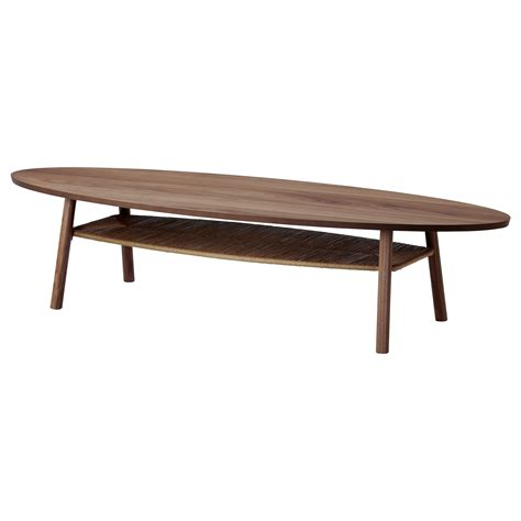 idea coffee table stockholm coffee table walnut veneer 180x59 cm ikea