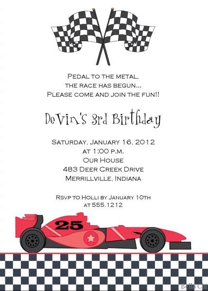 Race Car Birthday Invitation Template Race Car Invitation Templates