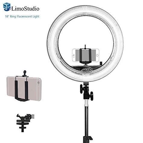 ring light with phone holder limostudio 18 inch fluorescent ring light 5500k dimmable