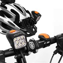 bike light set mj 900 helmet light mj 908 mountain bike