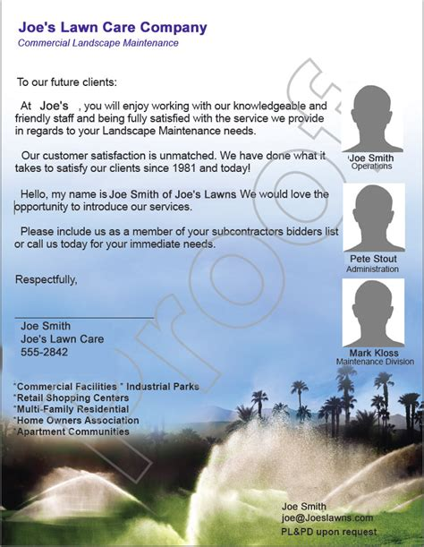 free lawn mowing flyer and bid sheet lawn care business marketing
