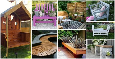 pretty awesome diy front yard benches