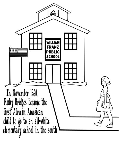 ruby bridges coloring pictures kids coloring europe