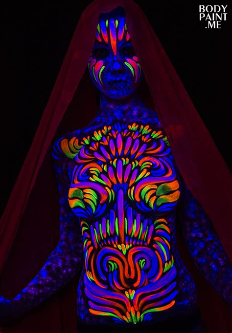 decorative astral blacklight bodypaint improv bodypaint me