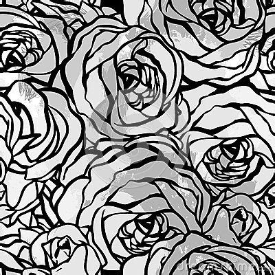 black and white rose pattern pinterest