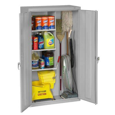 Outdoor Broom Cupboard - mop and broom storage cabinet wayfair