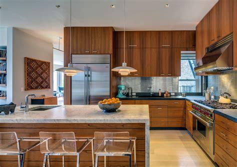 mid century modern kitchens  key design elements