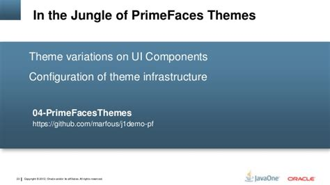 primefaces themes twitter bootstrap javaone 10 tips for java ee 7 with primefaces