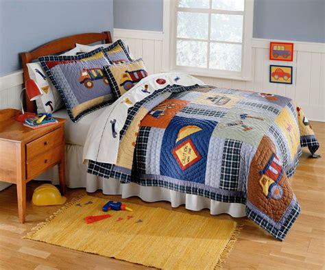 twin bed sets for boys construction time bedding for boys twin size 2pc quilt set