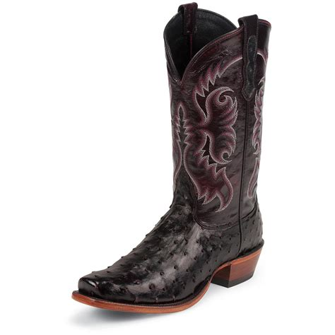 ostrich boots s nocona 174 12 quot quill ostrich boot boots black