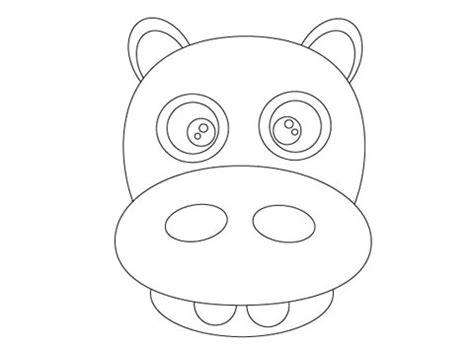 hippo mask template printable how to create face of a hippo using illustrator creative