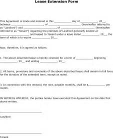 Letter Template For Lease Extension Free Lease Extension Form Formxls