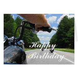 motorcycle ride happy birthday card zazzle
