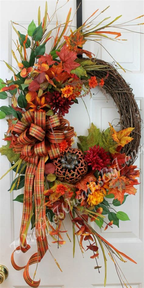fall wreaths 1000 ideas about thanksgiving wreaths on fall