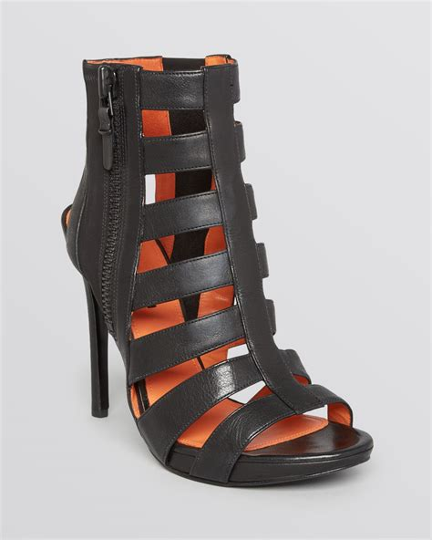 high heel cage sandals via spiga platform sandal booties nya caged high heel in