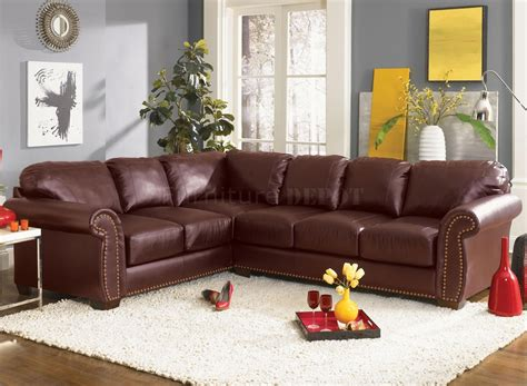Living Room With Burgundy Sofa by Burgundy Leather Search Home