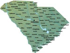 view sized map map of south carolina map cities and