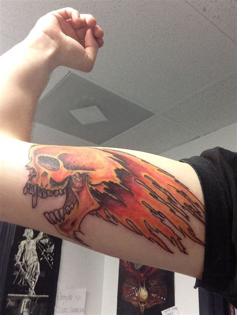 metallica tattoo metallica flaming skull cool tattoos