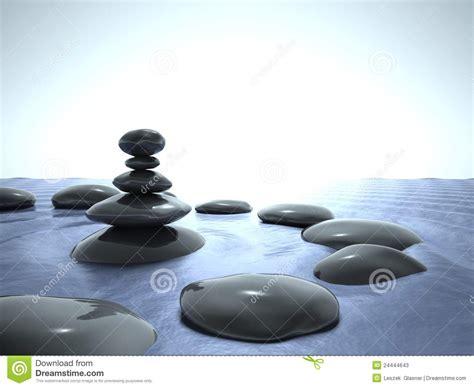 imagenes zen agua piedras del zen en el agua cielo azul fotos de archivo