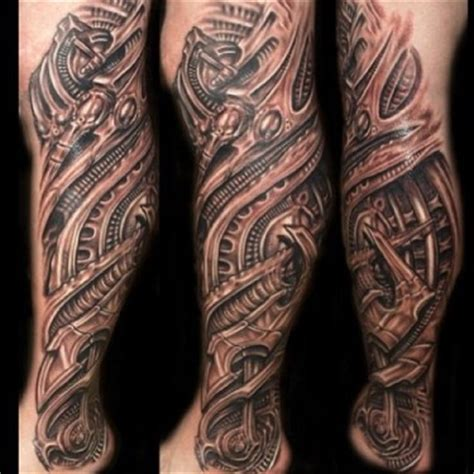mechanical leg tattoo designs creative mechanical leg designs for