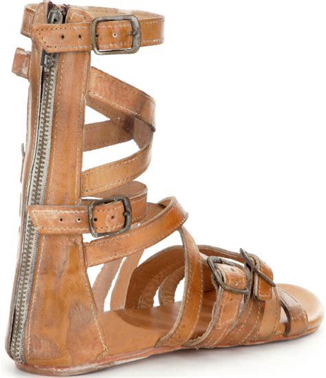bed stu sandals bed stu seneca gladiator flat sandals in brown lyst