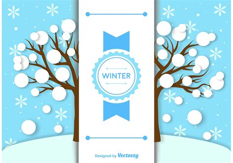 winter templates winter background label template free vector