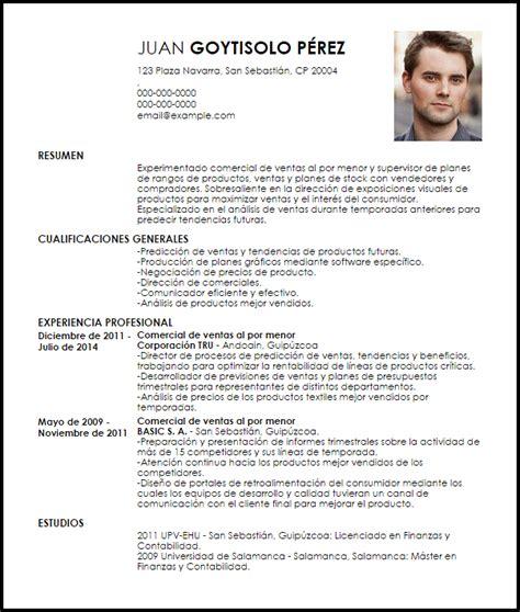 Modelo Curriculum Vitae Ventas Modelo Curriculum Vitae Comercial De Ventas Al Por Menor Livecareer