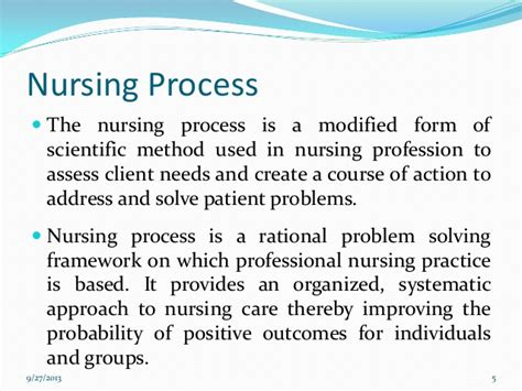 Nursing Process Essay by Nursing Process
