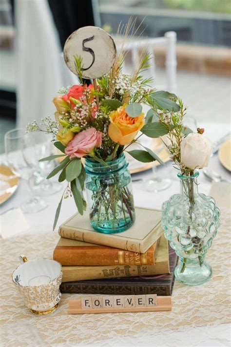 Vintage Table Decorations For Weddings Photograph An Elega Vintage Table Centerpieces