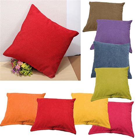 Zippered Pillow Cases by Corn Kernels Corduroy Sofa Decor Pillow Cases Zippered