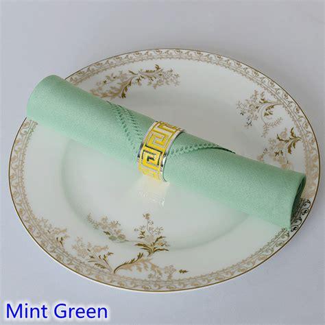 Sofa Stain Protection Mint Green Colour Table Napkin Plain Polyester Napkin For
