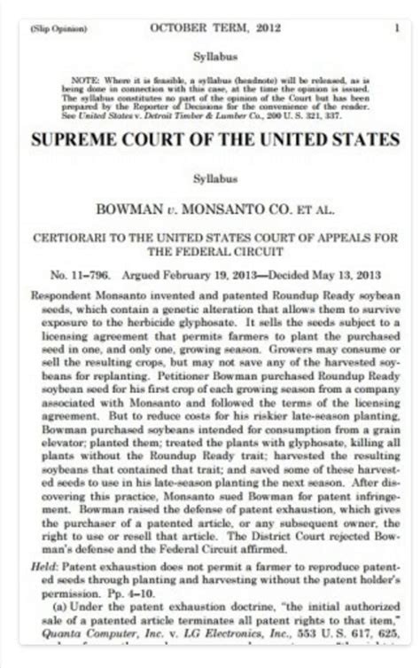 monsanto supreme court gmo patent controversy 2 supreme court cases of farmers