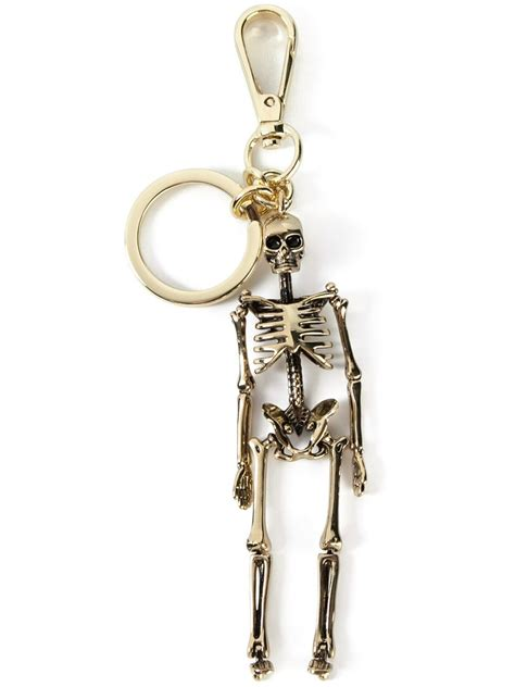 Alexander McQueen   skeleton keyring   men   Brass   One