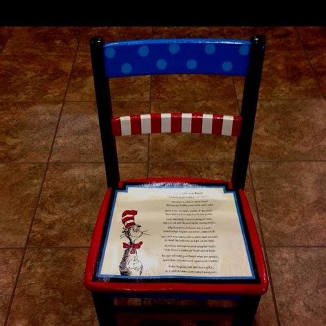 Pdo Cair Fish painted chair for our preschool s silent auction the poem