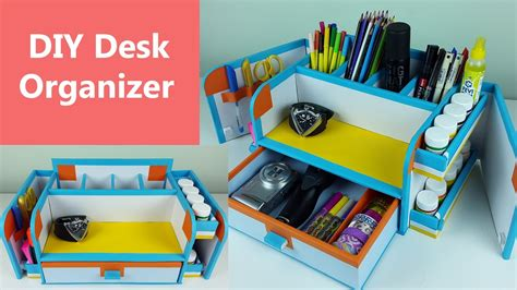 A Stylish And Compact Diy Desk Organizer Drawer Organizer Desk Organizer Diy