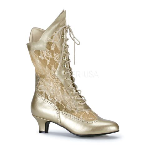 costume laced decorated boots